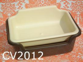 Curver aardappelbak 'Seventies' crèmekleur/bruin