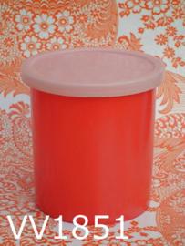 Voorraadbus kunststof 'Sixties' rood