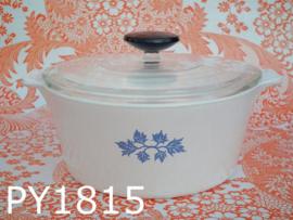 Pyroflam pan + deksel rond 'Blue Band'  Pf131B