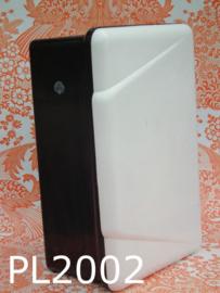 Plaster bakeliet medicijnkastje 'Fifties' zwart/wit