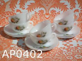 Arcopal kop & schotels groot 'Fruit' (set van 6)