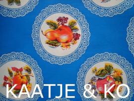 Tafelkleed Mexicaans tafelzeil  2 meter 'Frutas blauw'