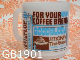 Glasbake pyrex koffiebeker/mok 'Sixties'