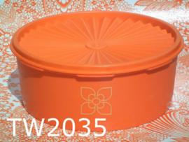 Tupperware koektrommel/bewaardoos 'ster'deksel oranje