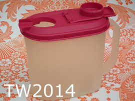 Tupperware bewaardoos met doseerdop transparant/roze