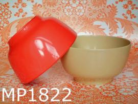 Mepal-Service schaaltjes beige oranjerood (set van 2)