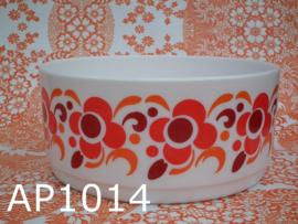 Arcopal schaal groot 'Knorr' oranje/rood