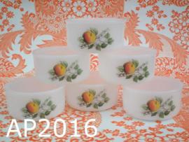 Arcopal souffléschaaltjes 'Fruit' (set van 6)