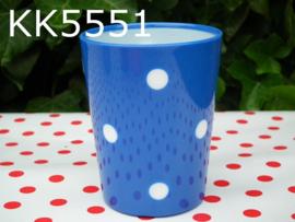 Beker 'Polkadot' blauw