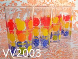 Glazen/limonadeglazen 'Blueberry' (set van 4)