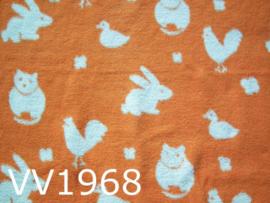 Dekentje baby/kind 'Seventies' oranje/offwhite