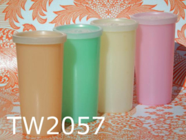 Tupperware bekers middelgroot 'Sixties' pastel (set van 4)