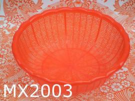 Mixmamas ronde plastic mand/vergiet groot 'Retro' rood