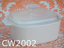 Corning Ware glaskeramiek pan/ovenschaal + deksel (model A-1,5-B) wit