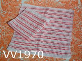 Vaatdoekjes (set van 2) wit/rood