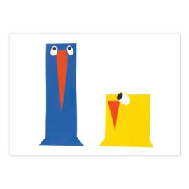 Ansichtkaart Vogeltjes