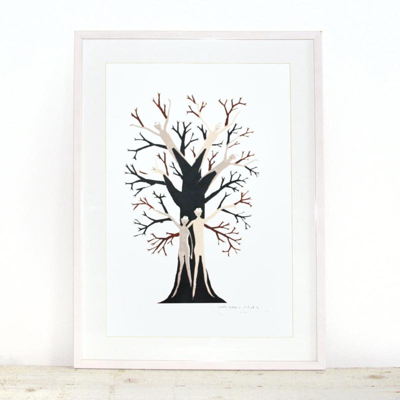 Familieboom handmade