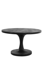 Salontafel - ø 70 x 40 cm - Bicaba hout zwart