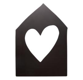 Vt Wonen - Huis - Zwart - 40cm