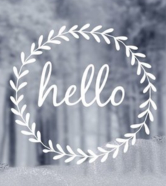 Delight Department - winter window sticker - Hello
