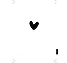Labelr - Tuinposter - Wit met zwart hartje