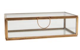 Ib Laursen - opbergbox - glas - metaal - kleur brons