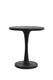 Bijzettafel - ø 50 x 55 cm - Bicaba hout zwart