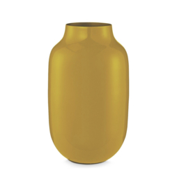Pip Studio - Metalen vaas - Yellow - Ovaal