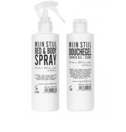 Mijn Stijl - Bed & body spray - Geur Cotton -  witte fles