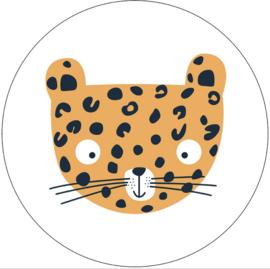 Labelr - Muurcirkel - Leopard - Geel
