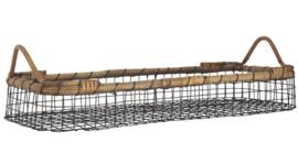 Ib Laursen - mand - zwart metaal draad met bamboe
