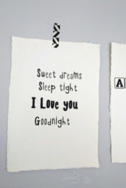 Poster A4 - Sweet dreams sleep tight