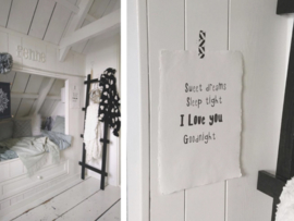 Poster A4 - Sweet dreams sleep tight