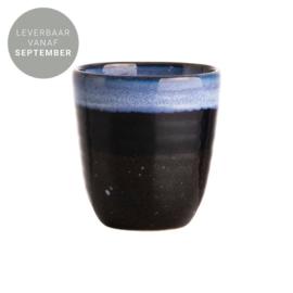 Gusta - Mok - 180ml - Blauw/Zwart