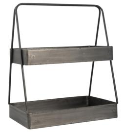 Ib Laursen - open kistjes van staal met 2 verdiepingen