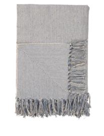 Ib Laursen - plaid - creme met lichtblauw smalle strepen