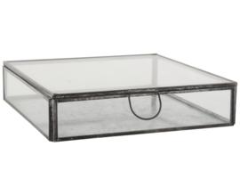 Ib Laursen - glazen kistje 18 x 18 x 4,5 cm