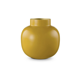 Pip Studio - Metalen vaas - Yellow - Rond