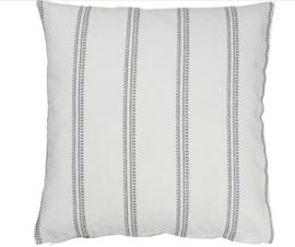 Ib Laursen - wit kussenhoes met grijze strepen