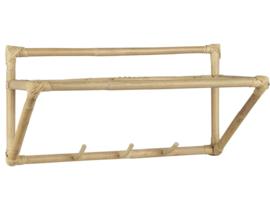 Ib Laursen - Wandplank  met 3 haken - Bamboe