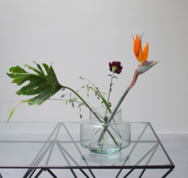 Urban Nature Culture - vaas - gerecycled glas transparant 18cm