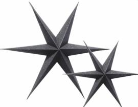 Delight Department - Glitter ster - zwart - set van 2