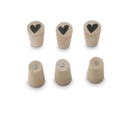 Vt Wonen - Magneten heart - 6 stuks