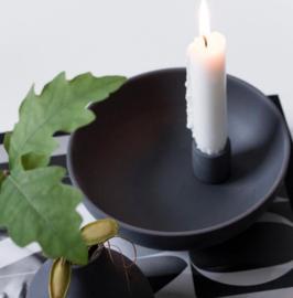 Storefactory Scandinavia - Kandelaar Lidatorp - keramiek - zwart - Maat L