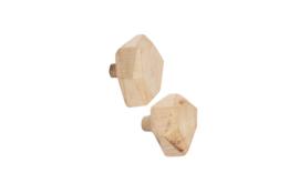 Leeff - Wooden hooks Wout - set van 2