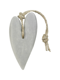 Mijn Stijl - Hanger Hart XL zacht grijs