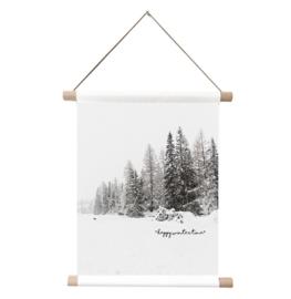Label-R - Textielposter - Winterbos