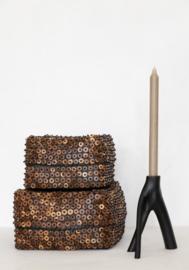 offermand met cocosnoot knoopjes - set van 2