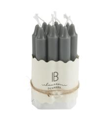 Ib Laursen - kaarsen - bundel van 10 stuks - grijs