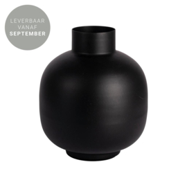 Gusta - Vaas - Metaal - Mat zwart